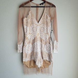 For Love & Lemons Antigua Mini Dress size L NWT